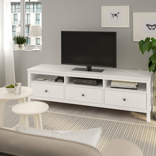 HEMNES TV unit, white stain