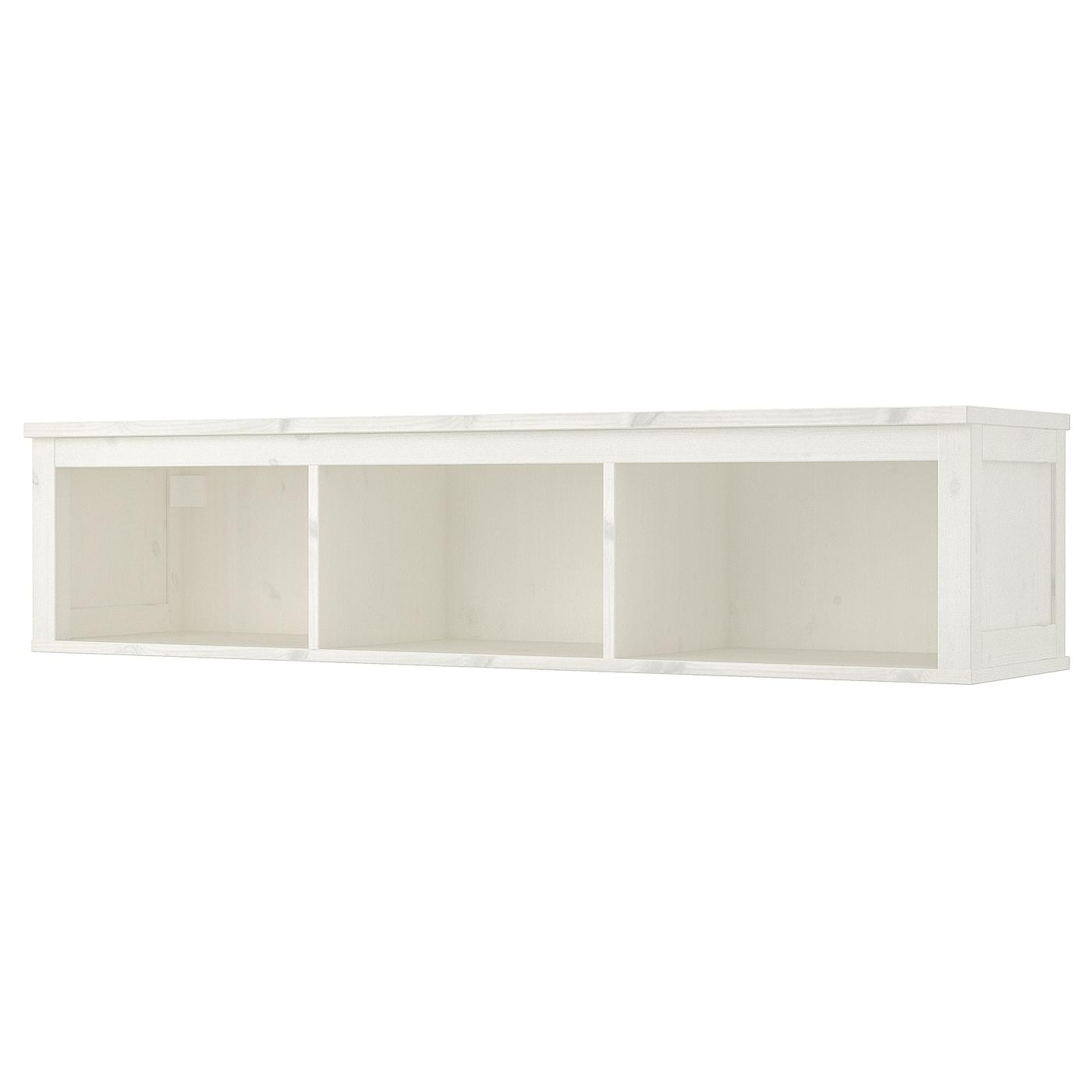 "hemnes wallbridging shelf white stain 58 14x14 58""  ikea"