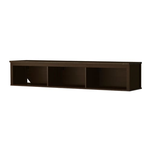 hemnes wall bridging shelf black brown ikea. Black Bedroom Furniture Sets. Home Design Ideas