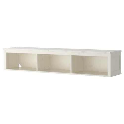 "HEMNES wall/bridging shelf white stain 72 "" 14 5/8 "" 13 3/8 "" 99 lb"