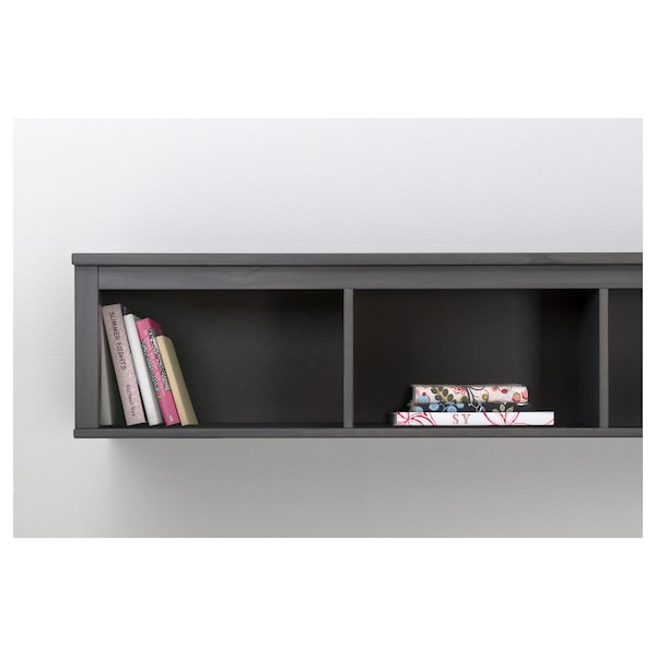 Hemnes Wall Bridging Shelf Dark Gray
