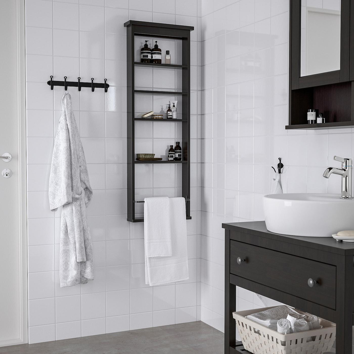Picture of: Hemnes Wall Shelf Black Brown 16 1 2×46 1 2 Ikea