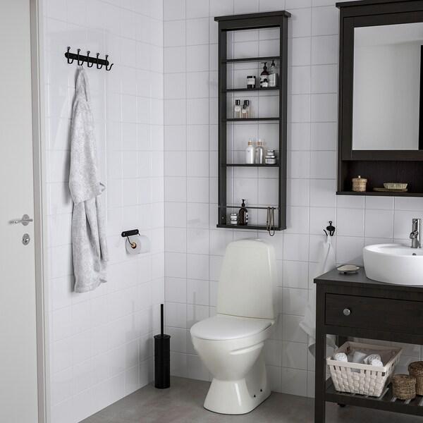 "HEMNES Wall shelf, black-brown, 16 1/2x46 1/2 """