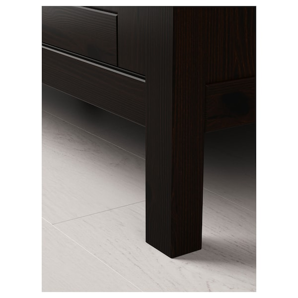 Hemnes Wardrobe With 2 Sliding Doors Black Brown 47 1 4x77 Ikea