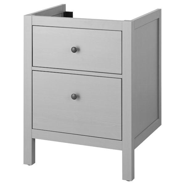 """HEMNES sink cabinet with 2 drawers gray 23 5/8 """" 18 1/2 """" 32 5/8 """""""