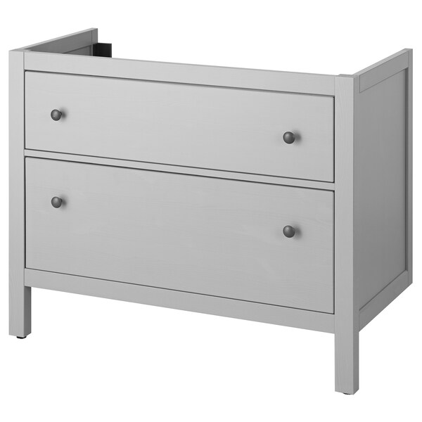 "HEMNES sink cabinet with 2 drawers gray 39 3/8 "" 18 1/2 "" 32 5/8 """