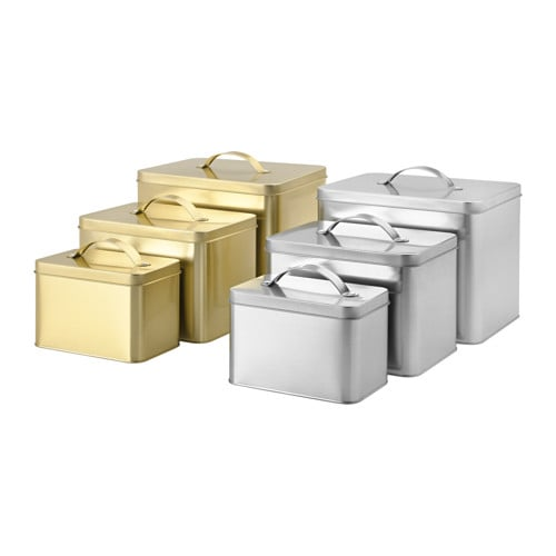 Hemsmak container with lid set of 3 ikea - Ikea container home ...