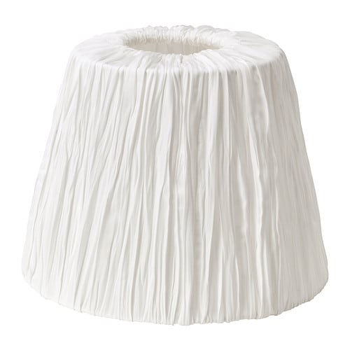 HEMSTA Lamp shade IKEA Fabric shade gives a diffused and decorative light.