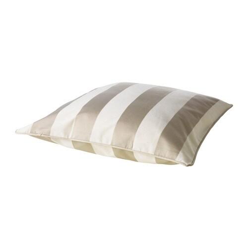 "HENRIKA Cushion cover, light beige Length: 20 "" Width: 20 ""  Length: 50 cm Width: 50 cm"