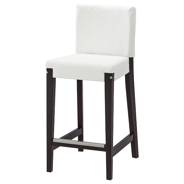 Stupendous Bar Stool With Backrest Frame Henriksdal Dark Brown Gmtry Best Dining Table And Chair Ideas Images Gmtryco
