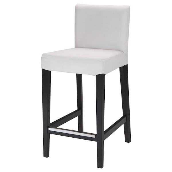"""HENRIKSDAL bar stool with backrest frame dark brown 243 lb 18 1/2 """" 22 """" 39 """" 18 7/8 """" 17 3/8 """" 26 """""""