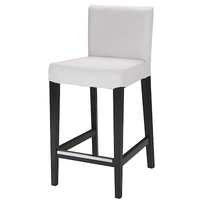 "HENRIKSDAL bar stool with backrest frame dark brown 243 lb 18 1/2 "" 22 "" 39 "" 18 7/8 "" 17 3/8 "" 26 """