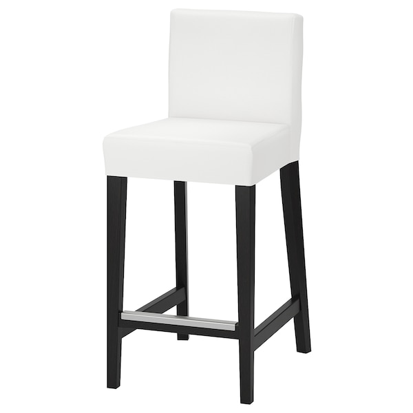 Superb Bar Stool With Backrest Henriksdal Brown Black Grasbo White Gmtry Best Dining Table And Chair Ideas Images Gmtryco