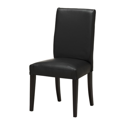 HENRIKSDAL Chair , brown-black, Robust black Tested for: 220 lb Depth: 22 7/8