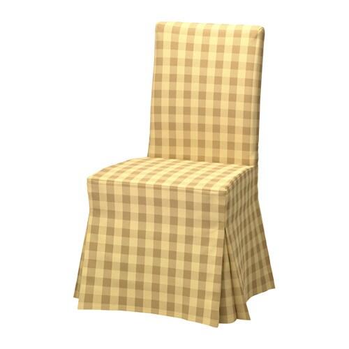 HENRIKSDAL Chair cover, long, Skaftarp yellow