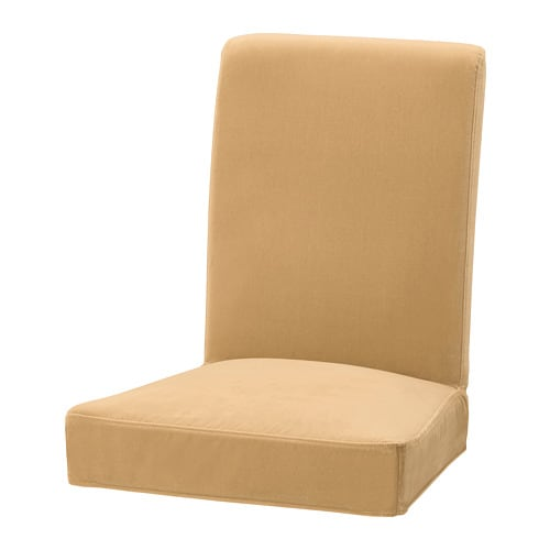 HENRIKSDAL Chair cover, Djuparp yellow-beige Djuparp yellow-beige -