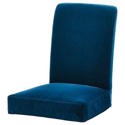 HENRIKSDAL chair cover Djuparp dark green-blue