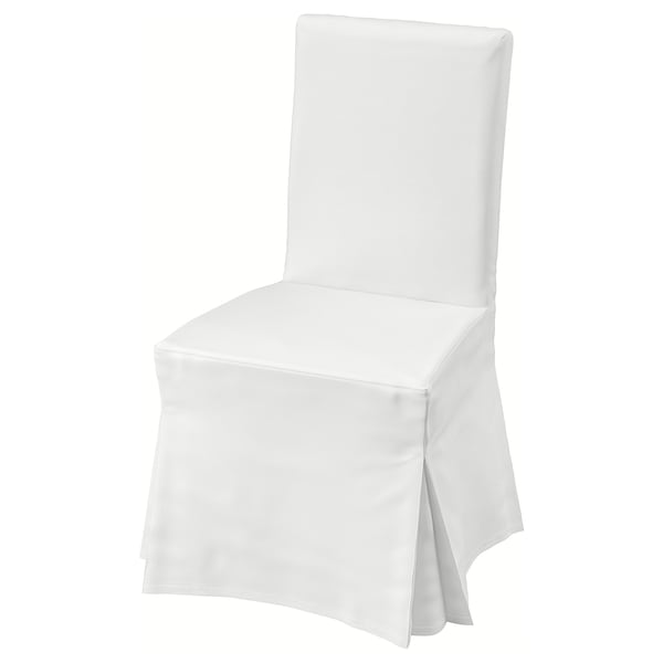 Astounding Chair With Long Cover Henriksdal White Blekinge White Inzonedesignstudio Interior Chair Design Inzonedesignstudiocom