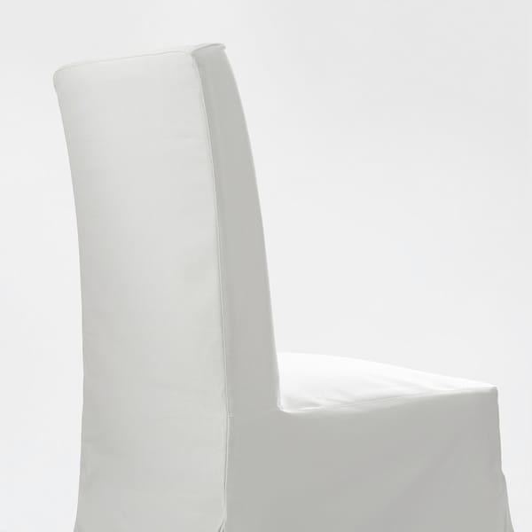 "HENRIKSDAL chair with long cover white/Blekinge white 243 lb 21 1/4 "" 22 7/8 "" 38 1/4 "" 21 1/4 "" 16 1/2 "" 18 1/2 """