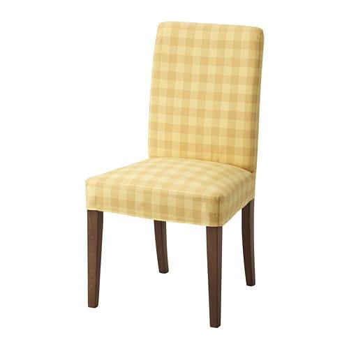 HENRIKSDAL Chair, brown, Skaftarp yellow Skaftarp yellow brown -