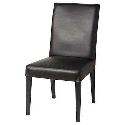 "HENRIKSDAL chair black/Bomstad black 243 lb 21 1/4 "" 22 7/8 "" 38 1/4 "" 21 1/4 "" 16 1/2 "" 20 1/8 """