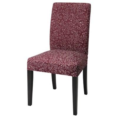 "HENRIKSDAL chair dark brown/Ryrane dark red 243 lb 20 1/8 "" 22 7/8 "" 38 1/4 "" 20 1/8 "" 16 1/2 "" 18 1/2 """