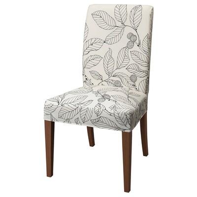 """HENRIKSDAL chair brown/Vislanda black/white 243 lb 20 1/8 """" 22 7/8 """" 38 1/4 """" 20 1/8 """" 16 1/2 """" 18 1/2 """""""