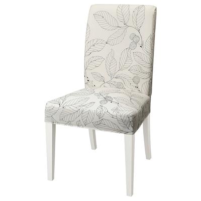 "HENRIKSDAL chair white/Vislanda black/white 243 lb 20 1/8 "" 22 7/8 "" 38 1/4 "" 20 1/8 "" 16 1/2 "" 18 1/2 """