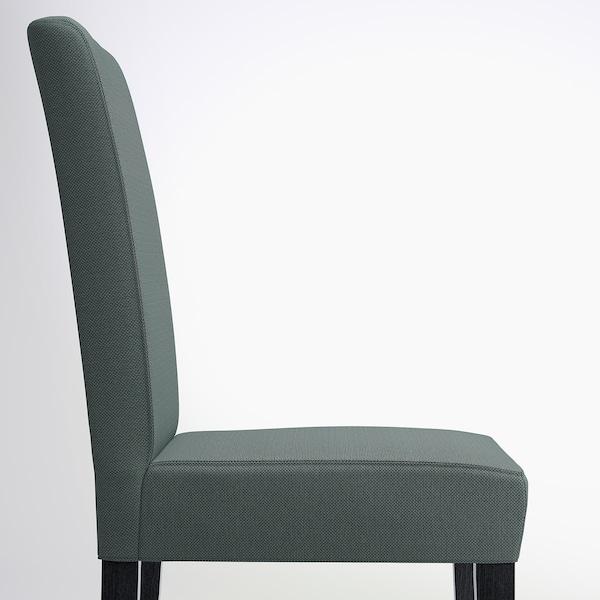 "HENRIKSDAL chair dark brown/Finnsta turquoise 243 lb 21 1/4 "" 22 7/8 "" 38 1/4 "" 21 1/4 "" 16 1/2 "" 18 1/2 """