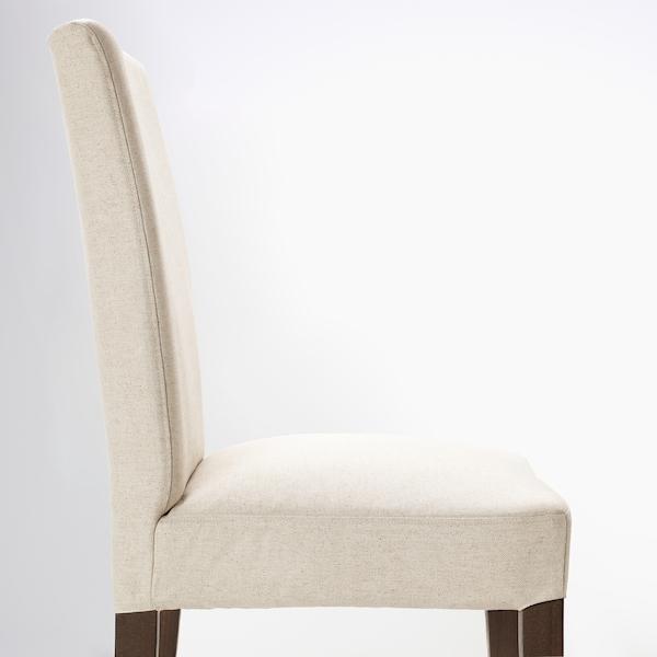 "HENRIKSDAL chair brown/Linneryd natural 243 lb 21 1/4 "" 22 7/8 "" 38 1/4 "" 21 1/4 "" 16 1/2 "" 18 1/2 """