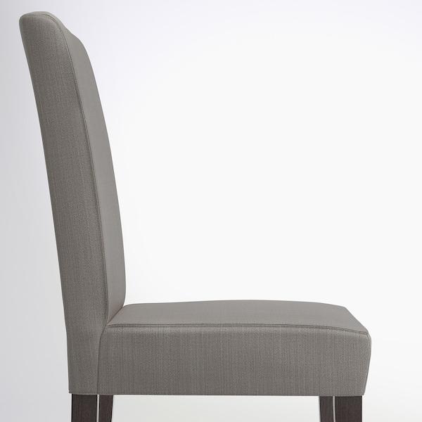 "HENRIKSDAL chair dark brown/Nolhaga gray-beige 243 lb 21 1/4 "" 22 7/8 "" 38 1/4 "" 21 1/4 "" 16 1/2 "" 18 1/2 """