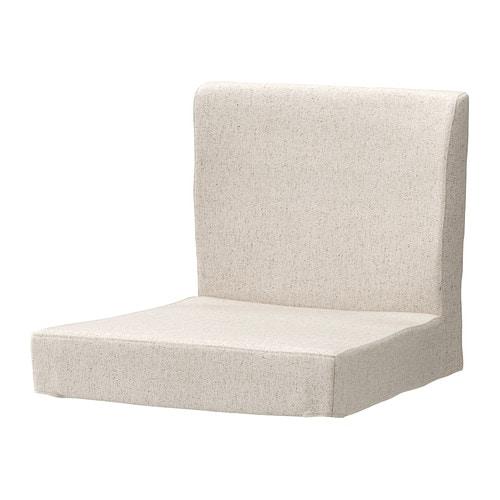 HENRIKSDAL Cover for bar stool with backrest, Linneryd natural Linneryd natural -