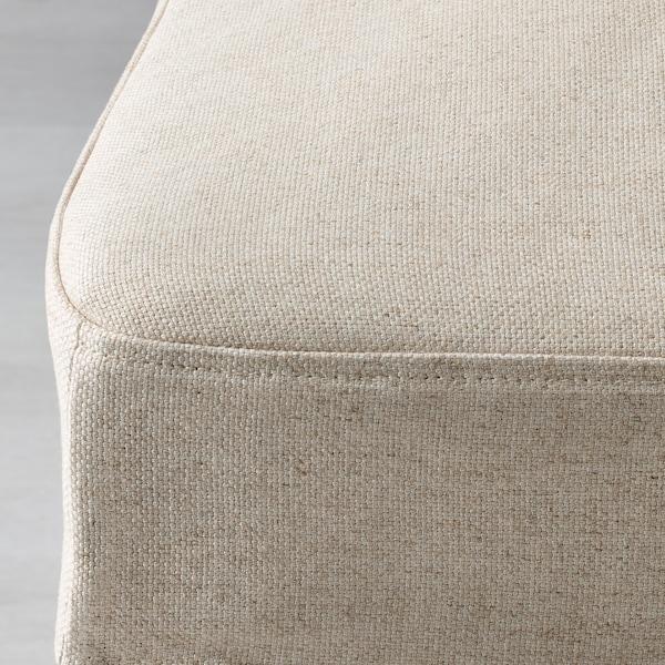 HENRIKSDAL Cover for bar stool with backrest, Linneryd natural