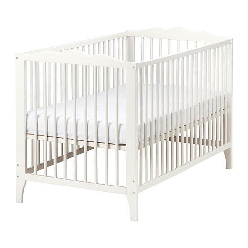 HENSVIK Crib, white white 27 1/2x52