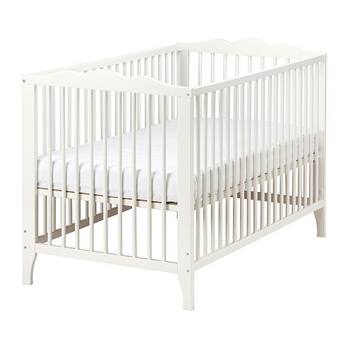 HENSVIK Crib IKEA The bed base can be placed at two different heights.
