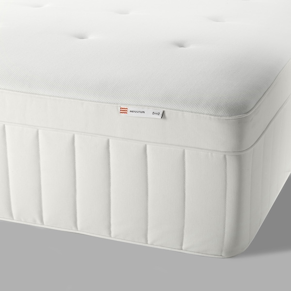 HESSTUN Eurotop mattress, medium firm/white, Queen