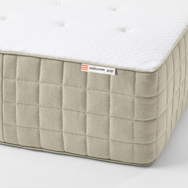 HIDRASUND Pocket spring mattress, firm/natural, Queen