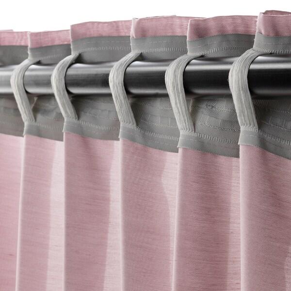 "HILJA Curtains, 1 pair, pink, 57x98 ½ """
