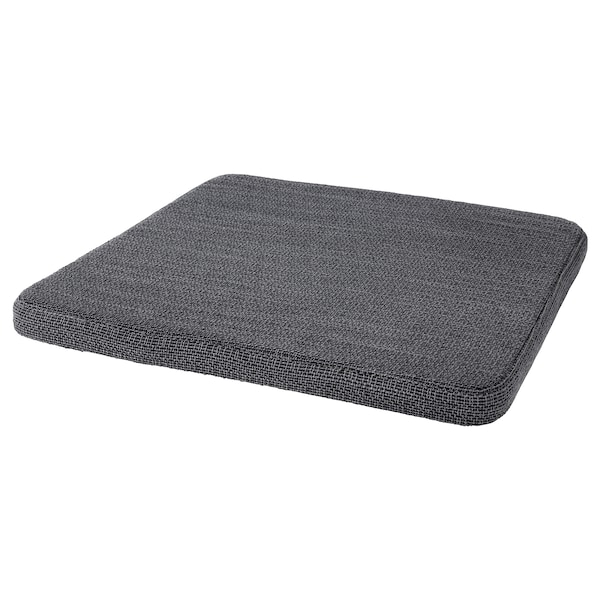 HILLARED Chair pad, anthracite, 14x14x1 ""