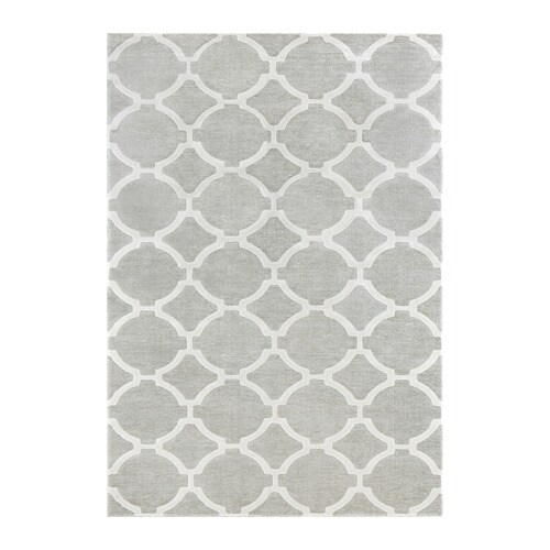 HILLESTED Rug, low pile, gray/white 7 ' 10