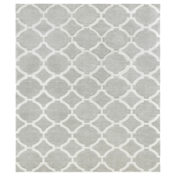 """HILLESTED Rug, low pile, gray/white, 7 ' 10 """"x9 ' 10 """""""