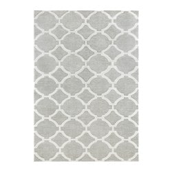 HILLESTED rug, low pile, gray/white