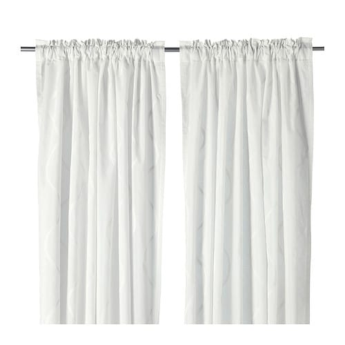 Hillmari curtains 1 pair ikea for White curtains ikea