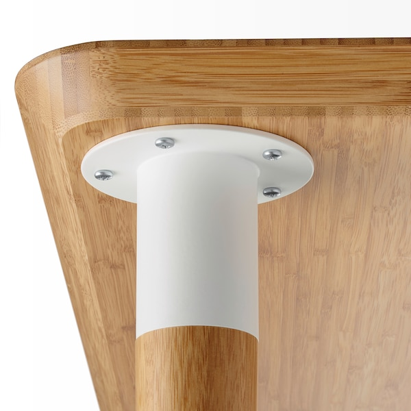 """HILVER Cone-shaped leg, bamboo, 27 1/2 """""""