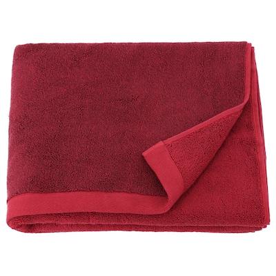"HIMLEÅN Bath towel, dark red/mélange, 28x55 """