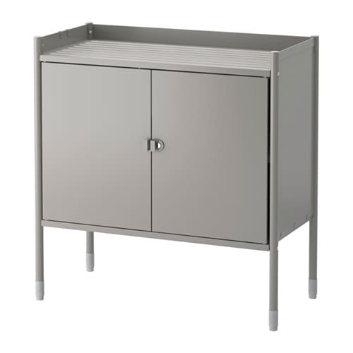 HINDÖ Cabinet, indoor/outdoor IKEA Also stands steady on an uneven floor since the feet can be adjusted.