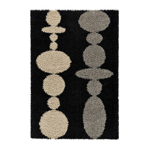 HINNERUP Rug, high pile IKEA Durable, stain resistant and easy to care for since the rug is made of synthetic fibers.