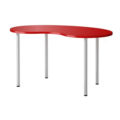 HISSMON ADILS Table cashew shape redsilver color  : hissmon adils table red0328875PE519810S4 from www.ikea.com size 500 x 500 jpeg 13kB