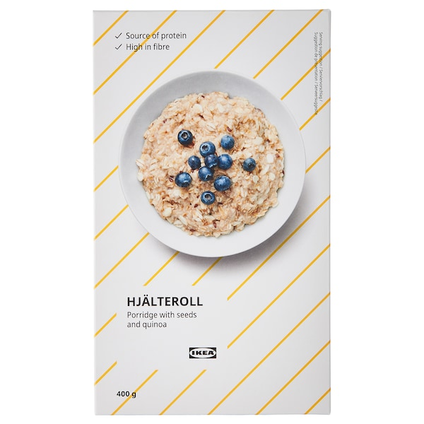 HJÄLTEROLL Porridge, with seeds and quinoa, 14 oz