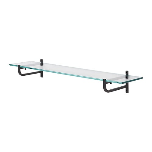 HJÄLMAREN Glass shelf IKEA Shelves of tempered glass, which have